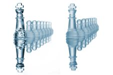 Pawn Chess Formation Royalty Free Stock Image