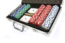 Poker Set Royalty Free Stock Images