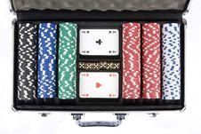Free Poker Set Royalty Free Stock Photos - 15464208