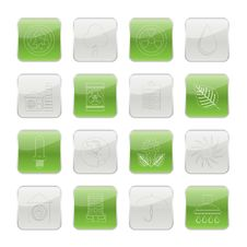 Free Ecology And Nature Icons Stock Photo - 15464640