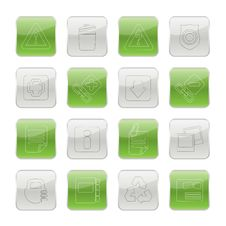 Free Web Site And Computer Icons Stock Images - 15464644