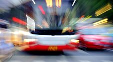 Free High Speed Bus Radiant Rays Royalty Free Stock Image - 15464786