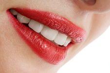 Free Beautiful Female Smiley Lips Stock Image - 15465441