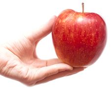 Free Red Apple In Hands Stock Photography - 15465892