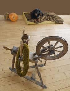 Free Equistment For Thread Spinning. Stock Photos - 15466203