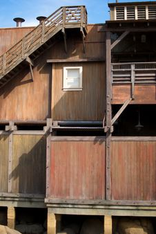 Free Old Cannery Row Building With Window Royalty Free Stock Photography - 15466787
