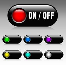 Free On / Off Button Royalty Free Stock Photography - 15466867