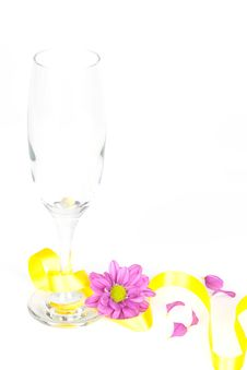Free Champagne Glass Decorated Royalty Free Stock Images - 15467529