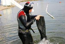 Diver Preparation Stock Photos