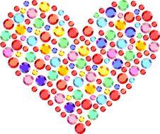 Free Heart Of Semiprecious Stones Royalty Free Stock Photo - 15468465