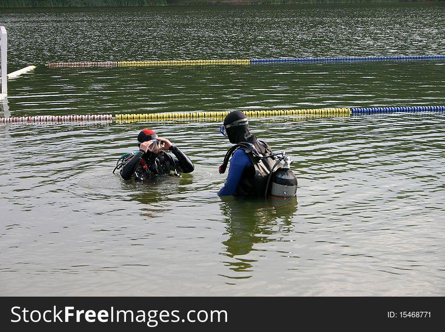 Diver preparation