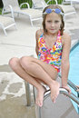 Free Cute Young Girl At Pool Royalty Free Stock Image - 15471106