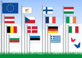 Free Vector Set A Of European Union Flags. Royalty Free Stock Image - 15471216