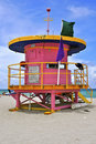 Free Pink South Miami Beach Hut Royalty Free Stock Photography - 15478317