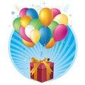 Free Gift Box And Balloon Royalty Free Stock Photo - 15479875