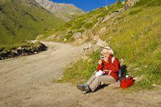 Free Old Women In Mountain Stock Image - 15470011