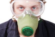 Free Man In A Respirator Stock Images - 15470354