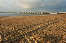 Typical Dutch Beach Stock Images