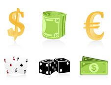 Free Icons Of Money Royalty Free Stock Photography - 15470897
