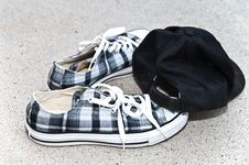 Free Boy S Shoes And Cap Stock Images - 15471074