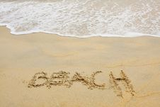 Free Text At Beach Stock Photo - 15471110