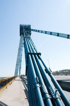 Free Agigea Suspension Bridge, Romania Royalty Free Stock Image - 15471336