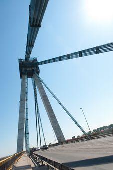 Free Agigea Suspension Bridge, Romania Royalty Free Stock Image - 15471356