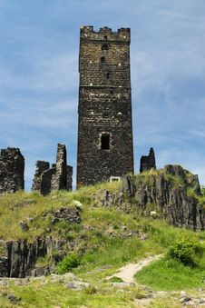 Old Castle Tower Stock Photos