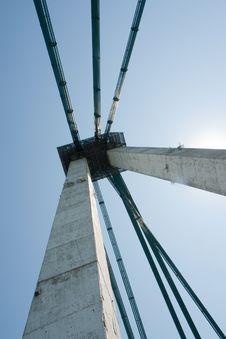 Free Agigea Suspension Bridge, Romania Stock Images - 15471374