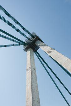 Free Agigea Suspension Bridge, Romania Royalty Free Stock Photo - 15471385