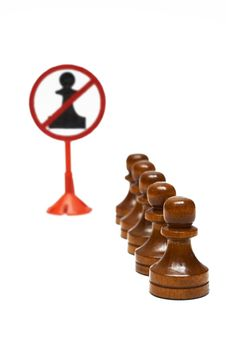 Pawns Exclude Stock Photography