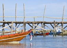 Free Traditional Thai Long Tail Boats In A Quiet Bay Stock Photo - 15471780