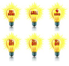Free Sale Bright Ideas Royalty Free Stock Image - 15471936