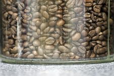 Free Coffee Beans In A Glass Royalty Free Stock Photo - 15472205