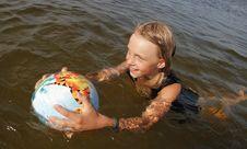 Free Girl Swimming. Stock Image - 15472331