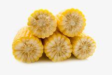 Free The Corn On White Stock Photos - 15473083