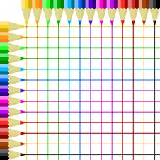Colored Pencils Drawing Royalty Free Stock Photography
