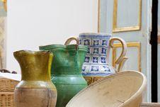 Ceramic Jugs Royalty Free Stock Photo
