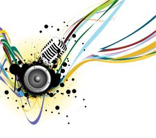 Free Music Background Royalty Free Stock Photography - 15473837
