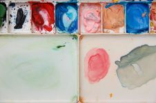 Free Messy Water Color Plate Stock Photography - 15473902
