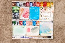Free Messy Water Color Plate Royalty Free Stock Image - 15473926