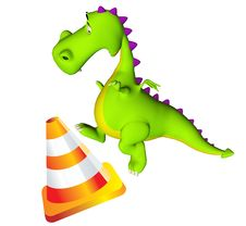 Dino Dragon Baby Jump Cone Stock Photo