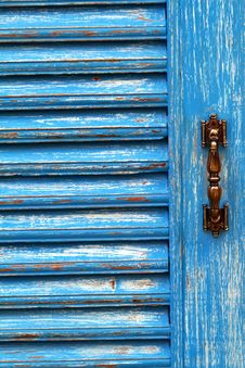 Free Blue Wooden Door Stock Photo - 15474100