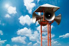 Free Lots Of Loudspeakers On A Tall Royalty Free Stock Photo - 15474115