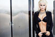 Elegant Sexy Fashion Model Posing Stock Image