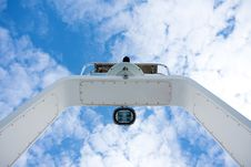 Free Boat Radar Mast Against Clouds Royalty Free Stock Images - 15474959