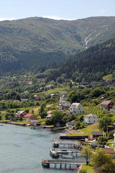 Balestrand, Sognefjord Stock Image