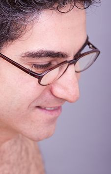 Free Man In Eyeglasses Smiling Stock Photography - 15475202