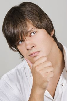 Free Handsome Young Man Thinking Stock Image - 15476201