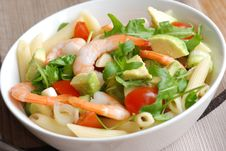 Prawn And Vegetable Salad Stock Photos
